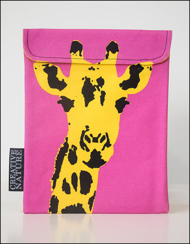 Tablet Cover Pink | Yellow Giraffe