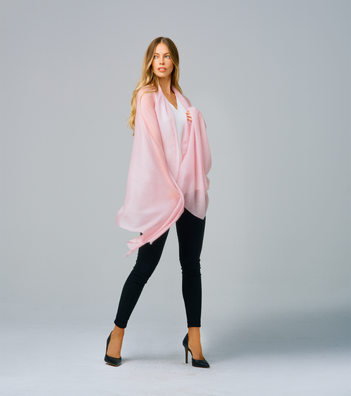 Sofia Cashmere Dusty Rose Featherweight Wrap