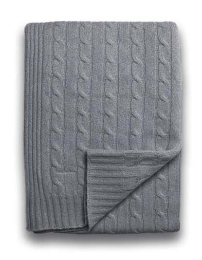 Sofia Cashmere Throw - Brescia (Heather Grey)