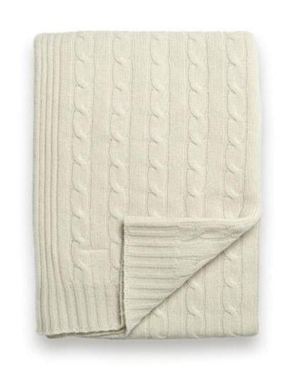 Sofia Cashmere  Throw - Veneto (Ivory)