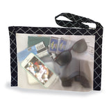 Flanabags Clear Gallon Stadium Bag (Black Diamond)
