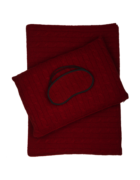 Emilia Travel Set by Sofia Cashmere (Red)