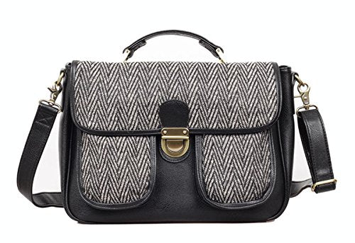 JoTotes Georgia Herringbone Camera Bag (Final Sale/No Returns)