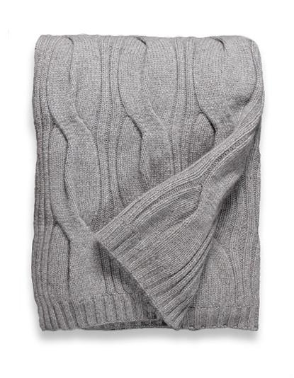 Sofia Cashmere Trentino Throw - (Taupe)