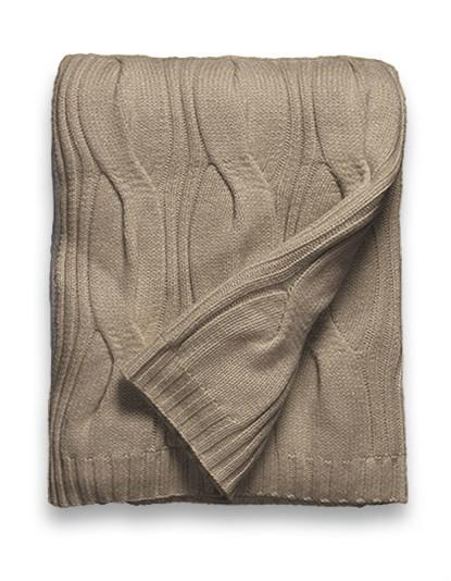 Sofia Cashmere New York Throw - (Heather Taupe)