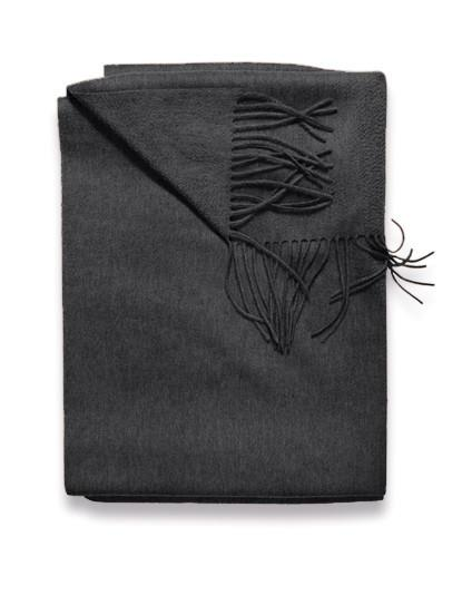 Sofia Cashmere Trentino Throw - (Charcoal)