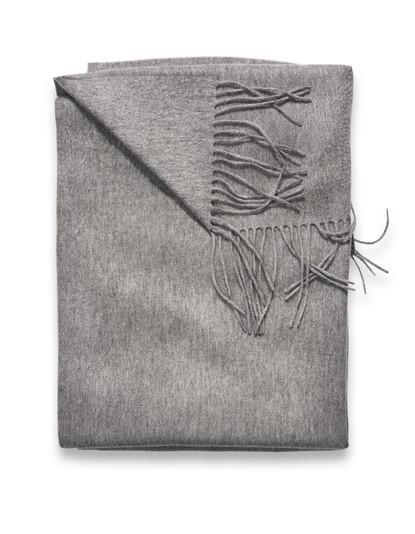 Sofia Cashmere Trentino Throw - (Grey)