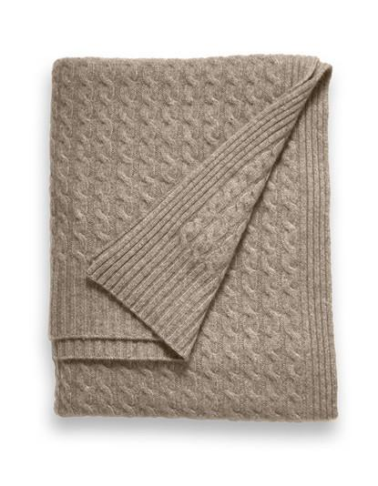 Sofia Cashmere  Throw - Veneto (Heather Taupe)