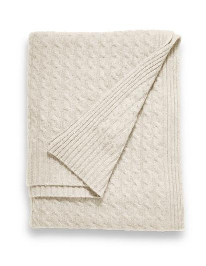 Sofia Cashmere  Throw - Brescia (Heather Taupe)