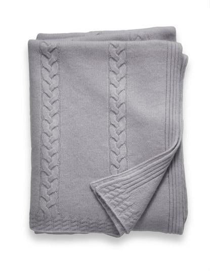 Sofia Cashmere Trentino Throw - (Navy)
