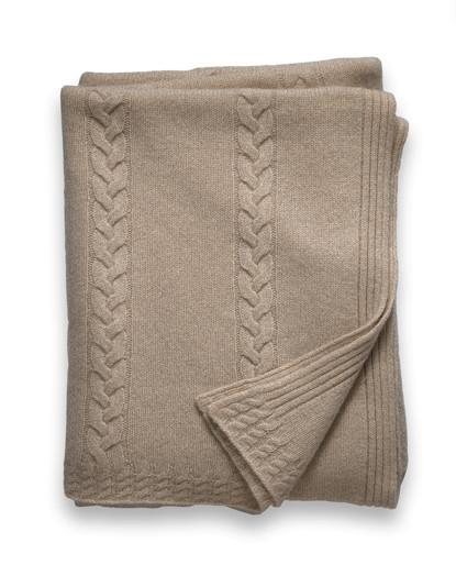 Sofia Cashmere Throw - Calabria (Heather Taupe)