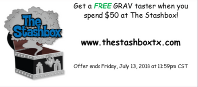 FREE GRAV TASTER when you spend $50!