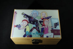 "Medium Rick and Morty ""Attack"" Bamboo Stash Box Set"