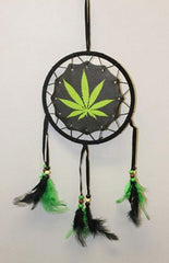 "6"" Dream Catcher Marijuana Pot Leaf Design"