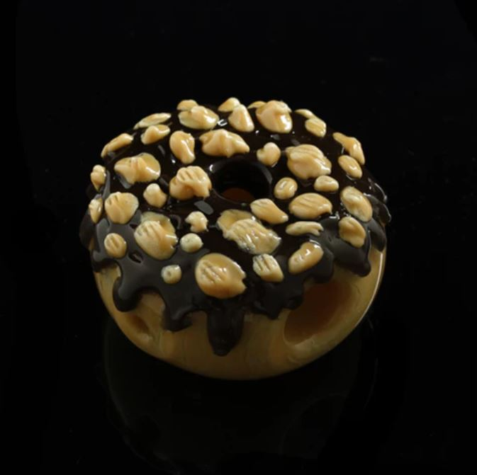 "2.75"" Glassheads ""Chocolate Peanut Donut"" Chillum"