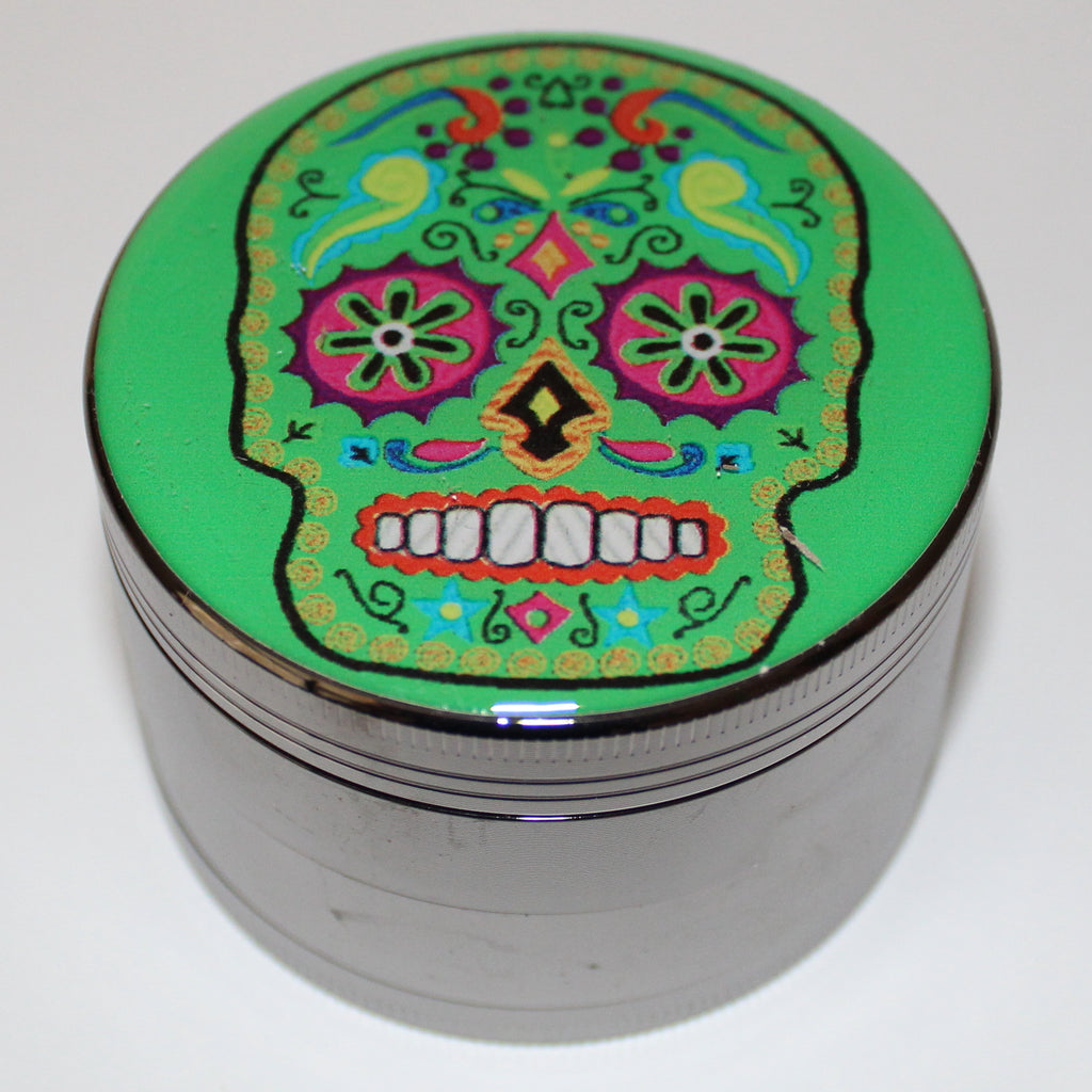 Green Sugar Skull Grinder 4-part