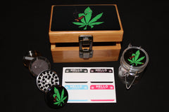 Small Smoking Plant Bamboo Stash Box Set