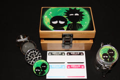"Small Rick and Morty ""Portal Flash"" Bamboo Stash Box Set"
