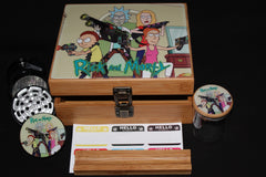 "Large Rick and Morty ""Attack"" Bamboo Stash Box Set"