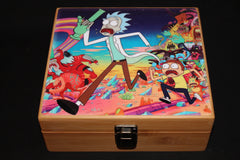 "Large Rick and Morty ""Running"" Bamboo Stash Box Set"