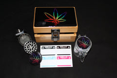 Small Colorful Flower Bamboo Stash Box Set