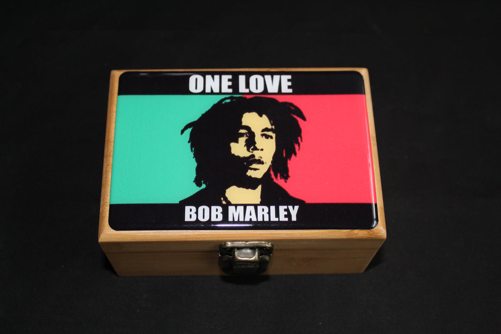 Small Bob Marley Bamboo Stash Box Sets