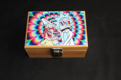 "Small Rick and Morty ""Bad Trip"" Bamboo Stash Box Set"