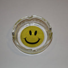 Smiley Face Glass Ashtray