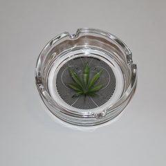 Op Leaf Glass Ashtray