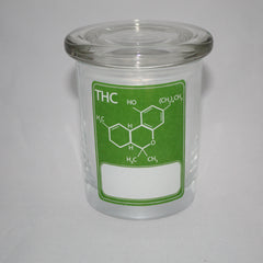 Apothecary Jar- Green Molecule Write On
