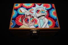"Small Rick and Morty ""Tie Dye"" Bamboo Stash Box Set"
