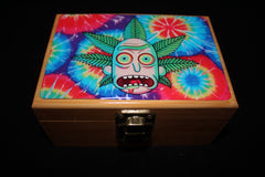 "Small Rick and Morty ""Rick Bud"" Bamboo Stash Box Set"