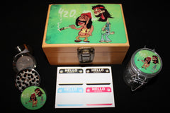 Small Cheech and Chong Bamboo Stash Box Set