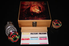 "Large ""Lion"" Bamboo Stash Box Set"