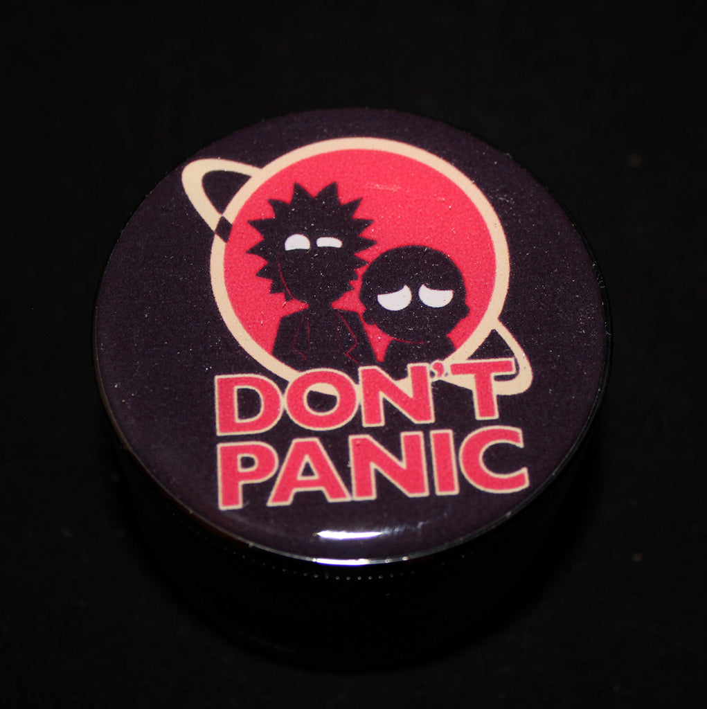 "Rick and Morty ""Don't Panic"" Grinder 4-part"