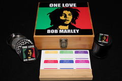 "Large ""Bob Marley One Love"" Bamboo Stash Box Set"