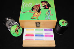 Large Cheech and Chong Bamboo Stash Box Set