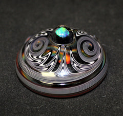 Sleeper Glass- One Love Rainbow Wig Wag Glass Pendant