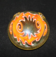 Sleeper Glass- Candy Corn UV Glass Pendant