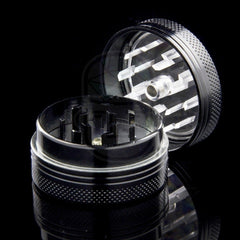 "Kraken 1.5"" 2-part Grinders with Clear Top and Push-up Bottom"