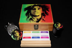 "Large ""Bob Marley"" Bamboo Stash Box Set"