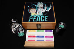 "Large Rick and Morty ""Peace Among Worlds"" Bamboo Stash Box Set"