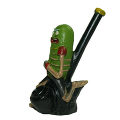 "5"" Rick and Morty ""Pickle Rick"" Clay Spoon Pipe"