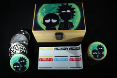 "Medium Rick and Morty ""Portal Flash"" Bamboo Stash Box Set"