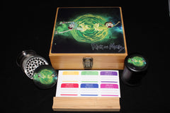 Large Rick and Morty Bamboo Stash Box Set