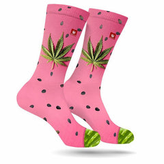 Medium Watermelon Kush Socks
