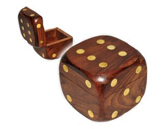 Wood Dice Box