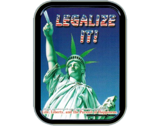 Large Stash Tin- Legalize It