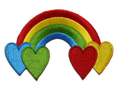 """Rainbow with Hearts"" Patch"