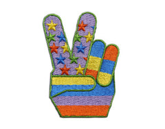 """Rainbow Peace Fingers"" Patch"